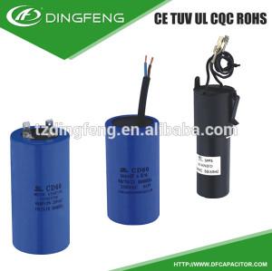 Cubierta de arranque del motor condensador electrolítico condensador no polarizado
