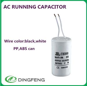 Condensador cbb61 1.2 uf condensador del ventilador y aire acondicionado cbb65 condensador