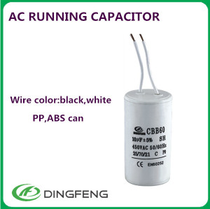 1.2 uf 450 v condensador del ventilador condensador cbb61 450 v