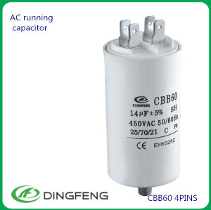 Cbb60 motor run capacitor 16 uf 450 v bomba de agua cbb60 capaciitor