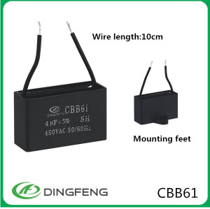 Condensador del ventilador cbb61 condensador del ventilador cbb61 5 hilos