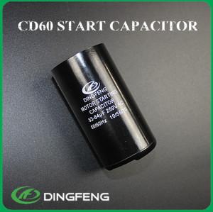 250vac condensador condensador del motor cd60 condensador de arranque del motor