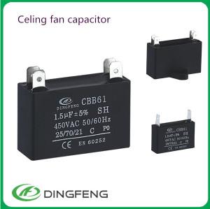 Cbb61 condensador 300vac celing ventilador cbb61 450vac condensador