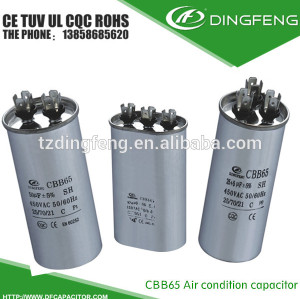 Condensador cbb65 sh 40/70/21 caso de aluminio electrolítico condensador de 3 pines