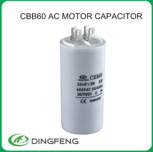 Cbb 60 condensador ac motor en marcha polyester film capacitor