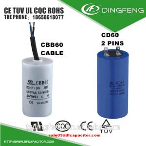 Condensador ac motorreductor de corriente eléctrica para la electrodomesticos usados