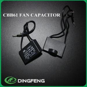 Condensador del ventilador cbb61 5 alambre 2 uf 450 v condensador 0.22 uf