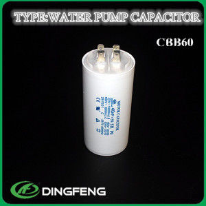 Bomba de agua azul de impresión 4 pins condensador cbb60 condensador 400 v