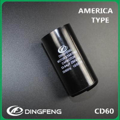 3hp condensador del motor de arranque 470 uf 200 v condensador electrolítico de aluminio