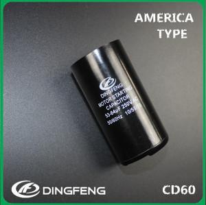 125 V 300 uf dingfeng marca cd60 condensador de arranque del motor
