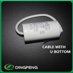 PP plástico ABS blanco o negro shell cbb60 condensador 120 uf 250vac