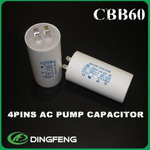 Cbb60 55 uf 450 v condensador de funcionamiento del motor del medio ambiente beneficio