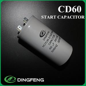 250 v 340-408 uf gran cantidad de exportación cd60a condensador del motor de ca