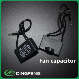 CBB61 ventilador de techo cuadrado negro 2 uf condensador