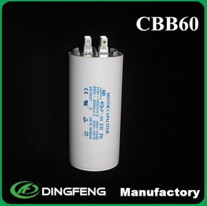 La tolerancia de 5% 55mfd 450vac condensador cbb60