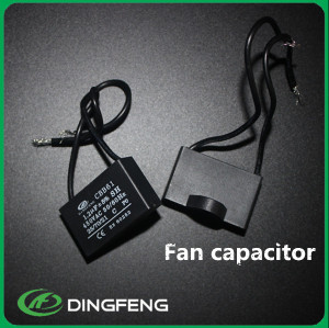 Cuadrado blanco y negro color 300vac cbb61 condensador del ventilador