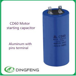 Sh 250vac condensador electrolítico condensador no polarizado