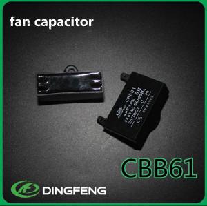 250 V película de poliéster metalizado cbb61 condensador del ventilador