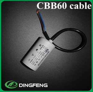 Cbb60 condensador del motor 250 v 50-60 hz 12 uf 250 v condensador del motor