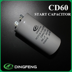 Condensador electrolítico 400 v y cd60a condensador del motor de ca