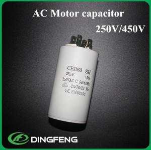 Cbb60 25 uf 500vac condensador a aislamiento sellado 100mf capacitor