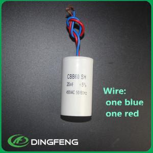 Condensador 50/60 hz ac sh condensador del motor cbb60 50 uf 450 v