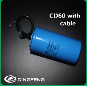 Caso de aluminio del condensador 250 v 400 uf cd60 condensador de arranque del motor