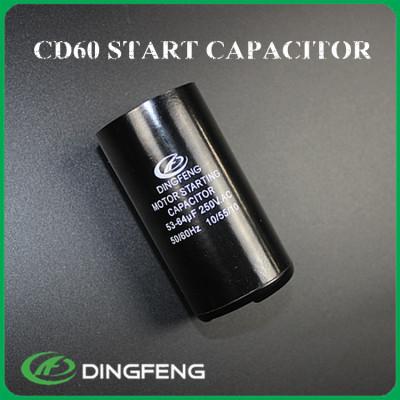 Cd60 150 uf 250 v condensador de arranque del motor fábrica