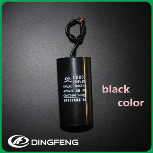 V ca 250vac ac condensador cbb60 450vac 1 uf condensador dingfeng a 60u