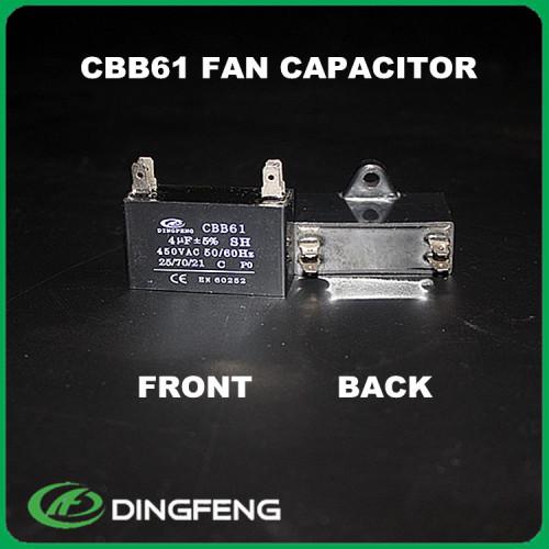 3.5 uf condensador CBB61 condensador del motor del ventilador de cbb61 450 v 1.5 uf