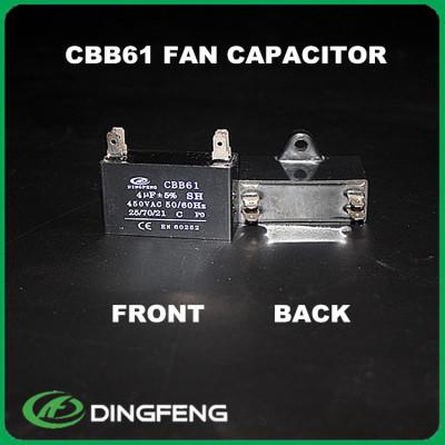 Capacitores ventilador del condensador 2 uf 400 voltios ac motor capacitor cableado