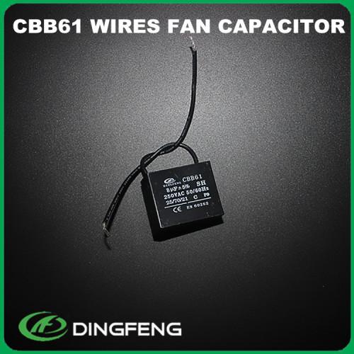 1.5 uf condensador 250 v al 2 de alambre hecho en taizhou 10 uf 250 v ac capacitor