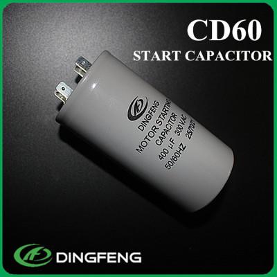 Terminales de conexión rápida cd60a electrolítico condensador de arranque del motor
