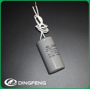 Motor eléctrico condensador de tubos de plástico compresor start capacitor