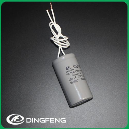 Estilo cd60 condensador de arranque del motor 100 microfaradios condensador