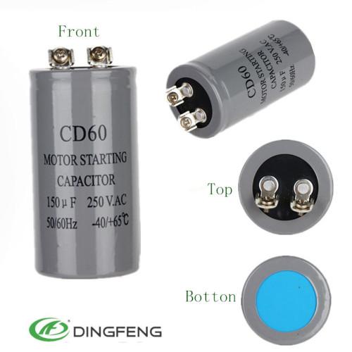 100mfd condensador condensadores electrolíticos de aluminio dingfeng fabricante