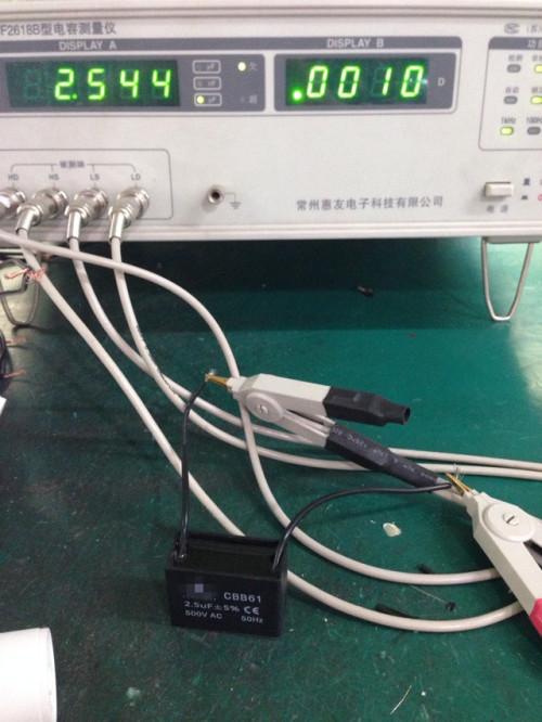 Condensador cbb61 0.5 uf 50/60 HZ condensador para motor del ventilador