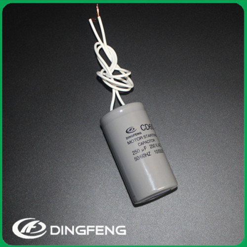 250 v 140 uf condensador de tubos de plástico cd60 capacitor start