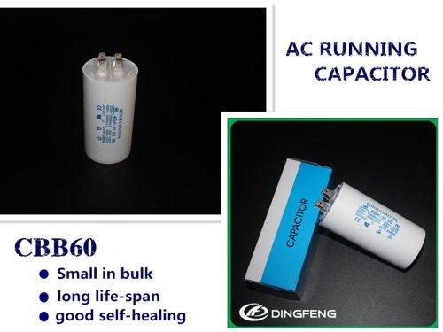 Capacitancia corriente 50/60 cbb60 condensador del compresor de aire