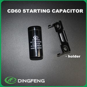 Cd60a condensador 100 uf 450 v condensador electrolítico de aluminio