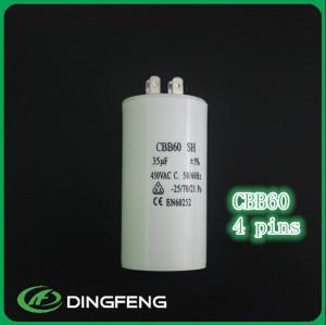 Cáscara suave de plástico blanco cbb60 condensador del compresor de aire