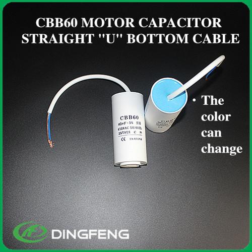 Condensador cbb60 2.5 uf 450 v condensador del motor de ca 10u