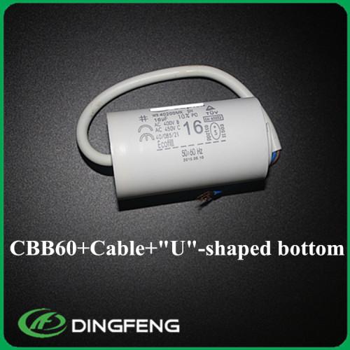 Cbb60 motor run capacitor 24 uf tipo u perno sh