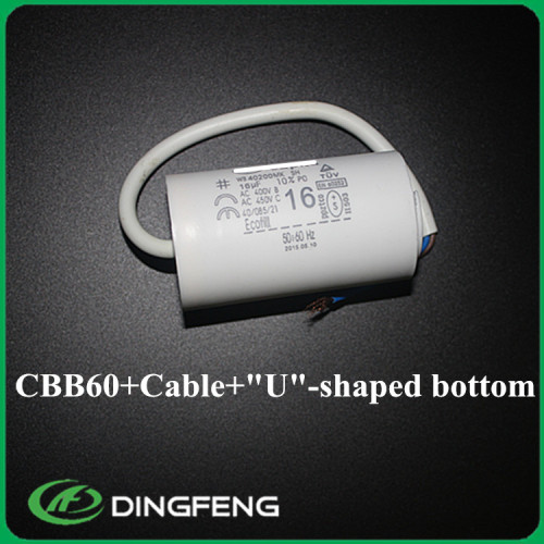 Cbb60 12 uf 250 v condensador del motor de ca al condensador 24 uf