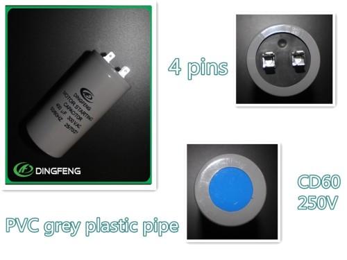Aluminio cd60 capacitor start 330 v condensador electrolítico de aluminio