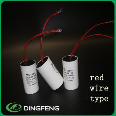 Dingfeng CBB60 cables carcasa de plástico polyester film capacitor