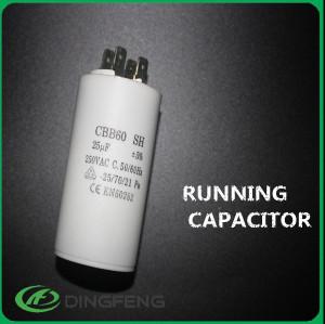 P0 película de poliéster metalizado condensador cbb60 relleno con resina