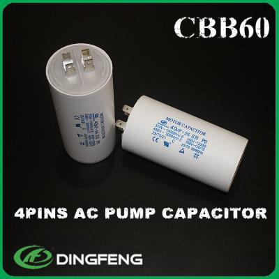 Condensador 250 v condensador cbb60 4 terminal pin