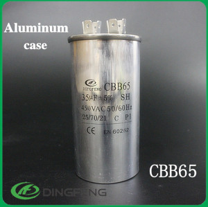 Cbb65 condensador 35 uf condensador 100 uf lleno de aceite
