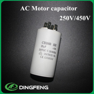 Cbb60 pin metalico 15 uf 250 v condensador de polipropileno